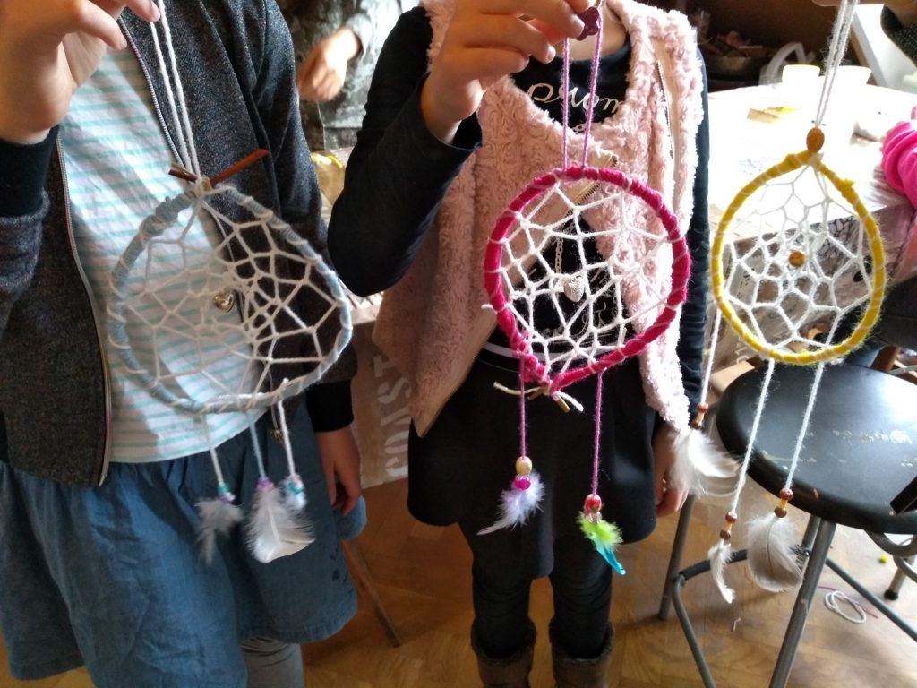 creatief kinderfeestje workshop kind dromenvanger